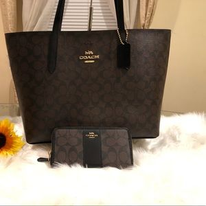 Coach wallet and tote